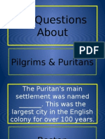 30 questions about pilgrims and puritans