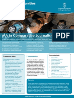 MA in Comparative Journalism