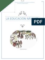Educación náhuatl
