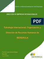 Estrategia Internacional, Organizacion y Direccion de IBERDROLA