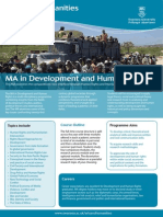 MA in Development and Human Rights