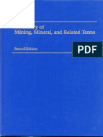 Diccionario de minería / Dictionary in Mining Minerals and Related Terms