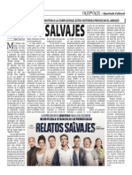 "Relatos salvajes... ""Te queremos Bombita"" (Oja x Oja 2015-03-02)"