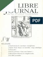 Libre Journal de la France Courtoise N°091