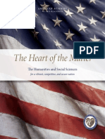 The Heart of the Matter Humanites and Social Sciences