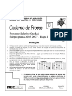 PSG1 (2005-2007) ProvasObjetivas