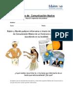 03b Hoja de Trabajo –Respuestas Para El Profesor – Medios de Comunicación Masiva