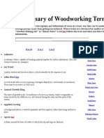 Glossary of Woodworking Terms