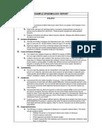 Epidemiology Report
