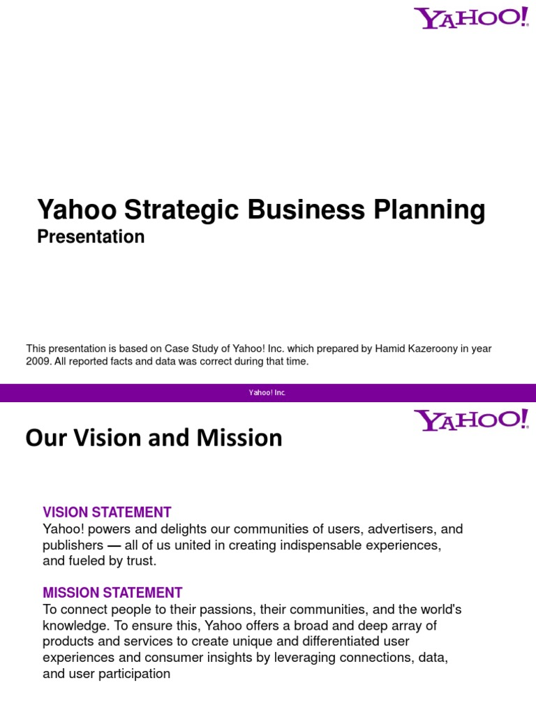 Case    Yahoo    Yahoo    Internet Yumpu Reorganizing Yahoo Case Study Analysis
