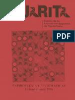 Pajarita Extra 1996 Papiroflexia y Matematicas