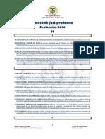 Gaceta de Jurisprudencia Sentencias Noviembre 2014