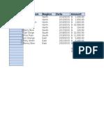Excel Practice tables