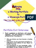 Moving From Working Portfolio to Showcase Portfolio