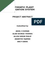 Automatic Plant Irrigation System