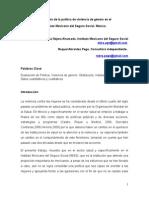 Evaluación de la política de violencia de género en el   Instituto Mexicano del Seguro Social. México.