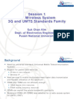 Session 1-1.2 Wireless System 3G and UMTS Standards Family