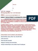 Bona Vista Energy Limited Vacancies 2