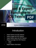 ICS Telecom Import Export Functions