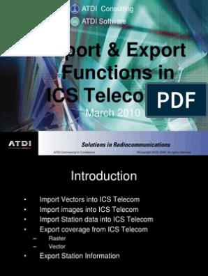 ICS Telecom Import Export Functions | Data | Computing