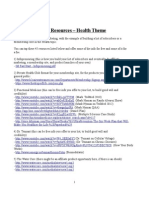 IM Resources - Health Theme