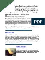 Part 10 - Blowout Surface Intervention Methods
