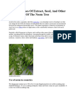 Important Uses of Neem Extract