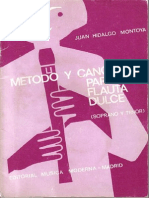 Método y Canciones Para Flauta Dulce