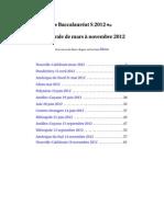 Baccalaureat S 2012