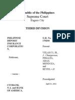 Philippine Deposit Insurance Corporation v Citibank