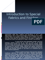 Introduction to Special Fabrics and Finishes
