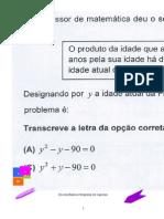 Equações (Ficha de Avaliação OP)