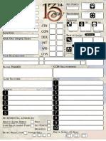 13th Age Character Sheet