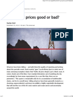 Are Low Oil Prices Good or Bad