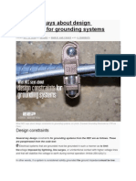 What NEC says about design constraints for grounding systems.docx