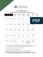 Weekly Schedule of MBA 2015 SIIIA Week 4