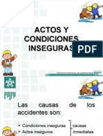 Actos y Condiciones Inseguras