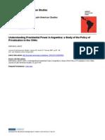 Presidentialism in Argentina