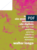 """Livro """"Homens São Analógicos, Mulheres São Digitais"""" de Walter Longo"""