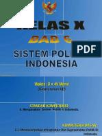 Bab Vi Sistem Politik Di Indonesia