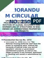 Nha Memorandum Circular No 2506