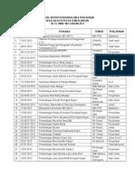 Jadual Aktiviti & Pencapaian Kokurikulum SK St Anne 2013