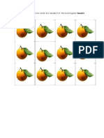 Four of These Tangerine Cards Are Needed for the Board Game