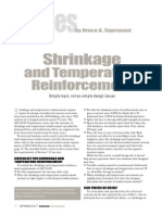 Shrinkage and Temperature Reinforcement