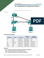 5.1.2.4 Lab - Configuracion de Routing Entre VLAN Por Interfaz