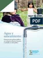 agua y saneamiento derechos y salud publica