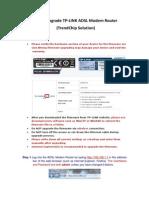 How to Upgrade TP-LINK ADSL Modem Router (TrendChip Solution)