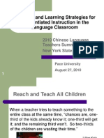 Teaching and Learning Strategies for Differentiated Instruction in the Language Classroom