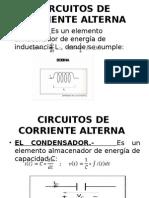 Corriente Alterna Monofásica -Valor Eficaz-impedancia Fasores - Potencia Monof y Trifasica