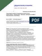 Palynological Studies of Argentinean Species of the Genera Cereus , Cleistocactus , Denmoza , Echinopsis AndMonvillea